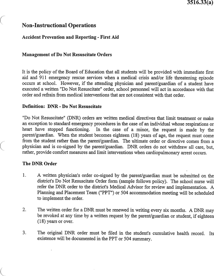 Free Connecticut Do Not Resuscitate Form - PDF | 89KB | 4 Page(s)