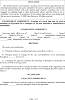 Consignment Agreement Template  Free Consignment Contract Template