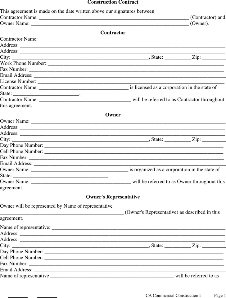 construction contract template 2