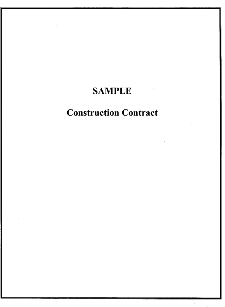 Construction Contract Template 3