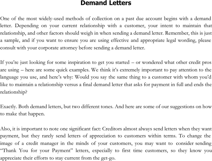 Demand letter sample template free download speedy template demand letter sample 1 altavistaventures