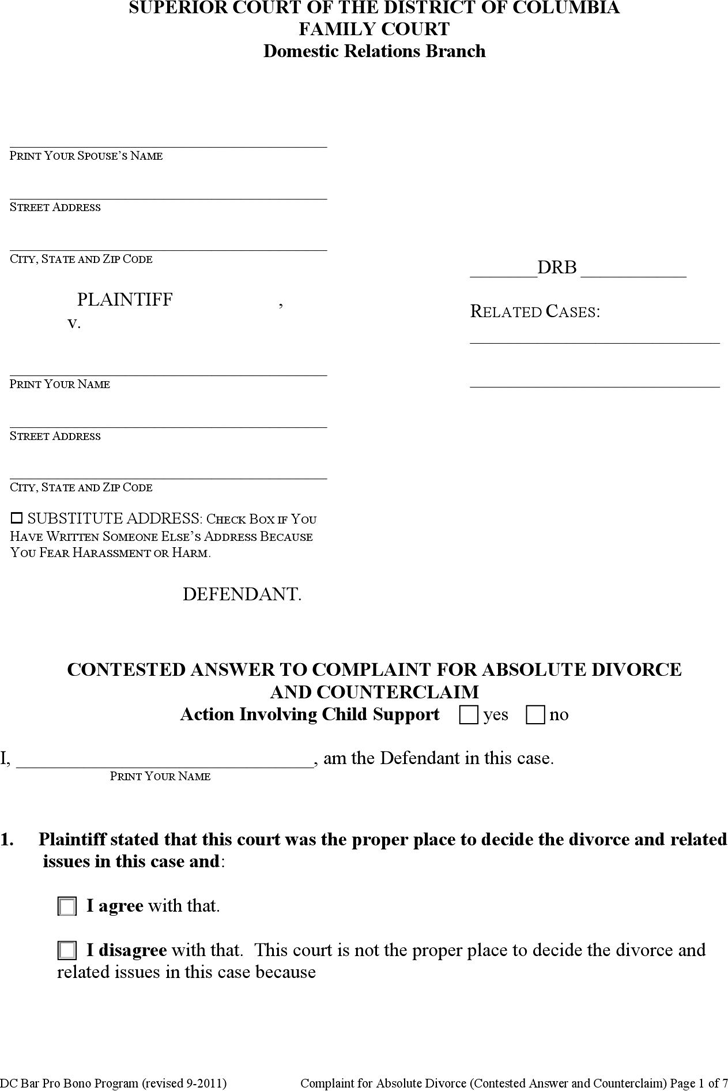Divorce Template - Free Template Download,Customize and Print