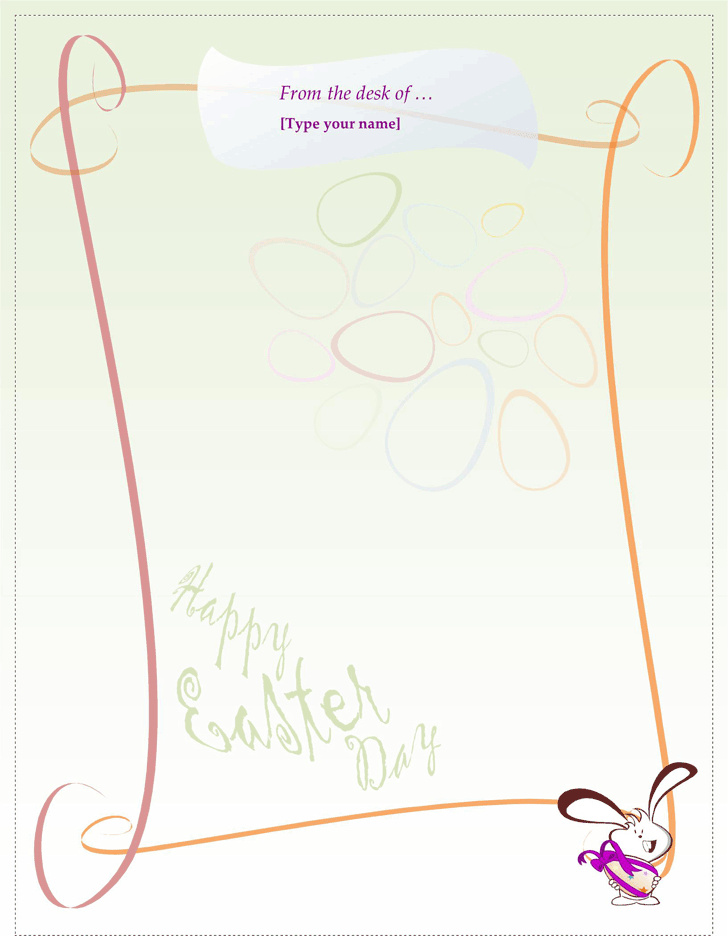 Easter bunny letter template template free download for Letter to easter bunny template