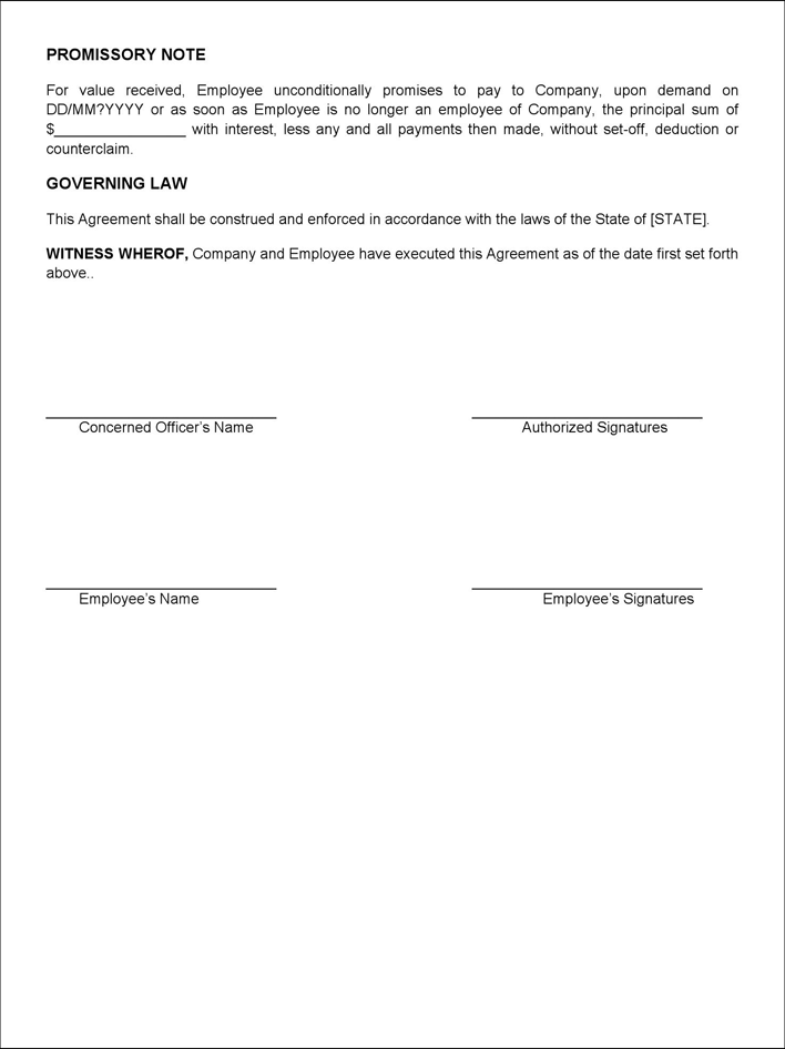 Free Employee Loan Agreement Docx 15kb 2 Pages Page 2