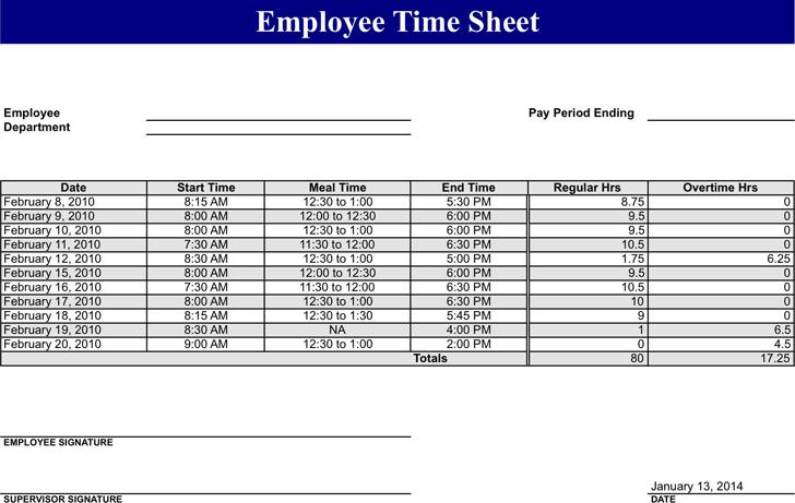 free employee time sheet xltx 48kb 1 page s