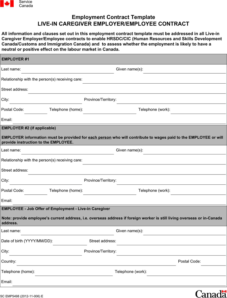 Employment Contract Template 2