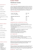 Hairdressing CV Template