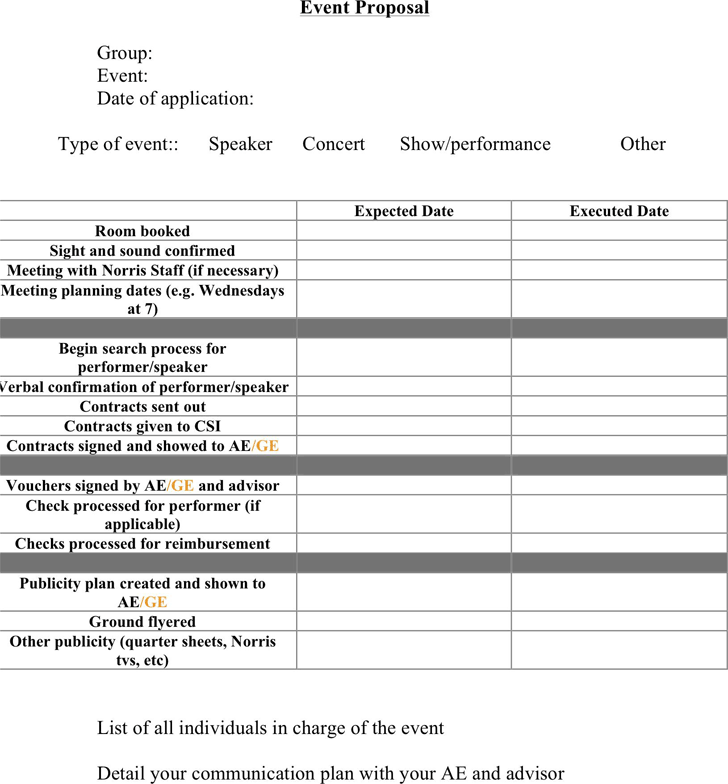 Free Event Proposal Template - Doc