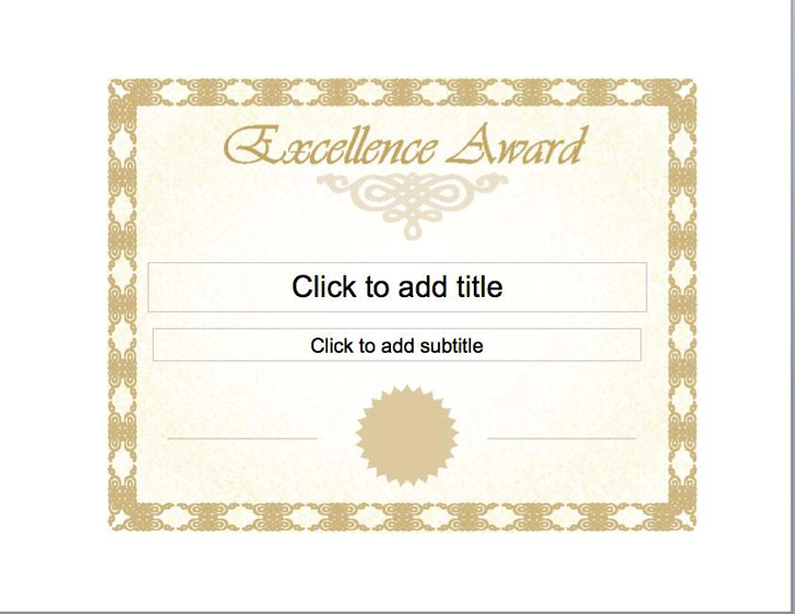 Certificate of Excellence - Template Free Download | Speedy Template