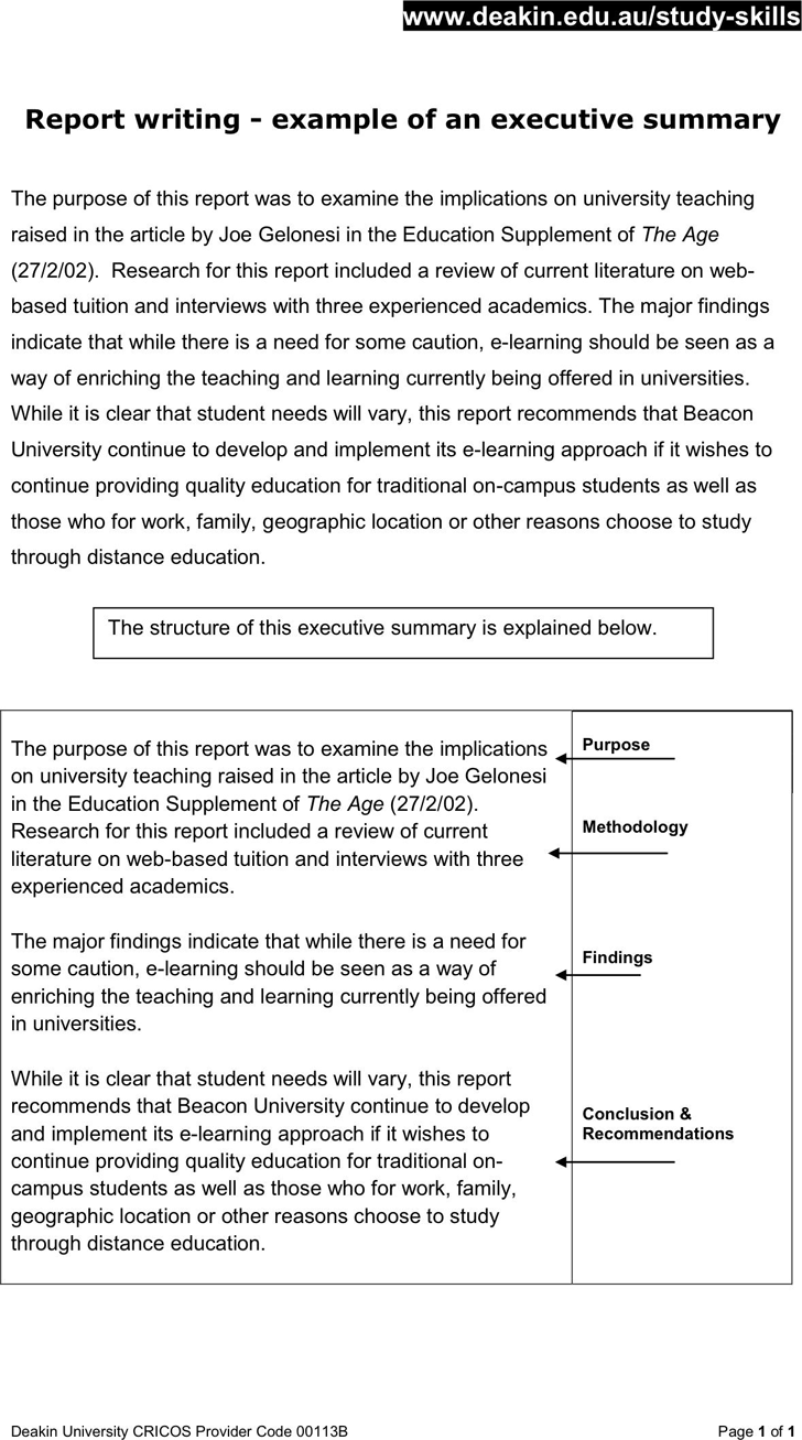 literature summary template