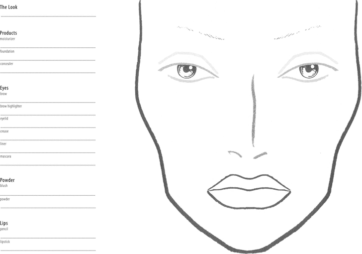 Free Face Chart Pdf 4253kb 1 Page S