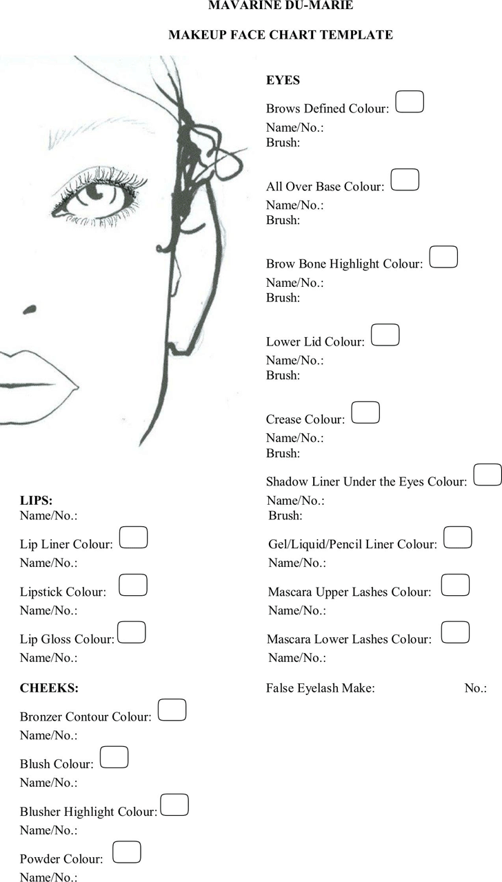 Face chart template free download speedy template face chart 2 maxwellsz