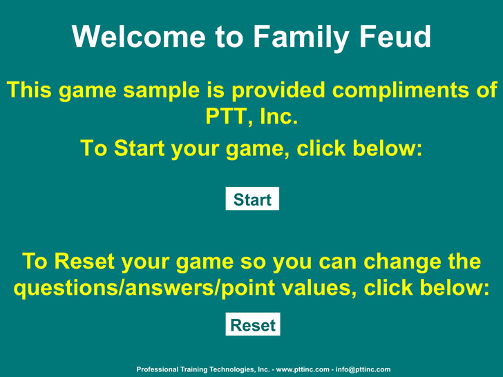 Free Family Feud Powerpoint Template Ppt 284kb 7 Pages