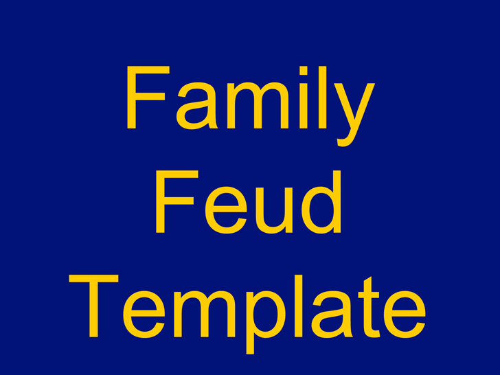 family feud powerpoint template template free download
