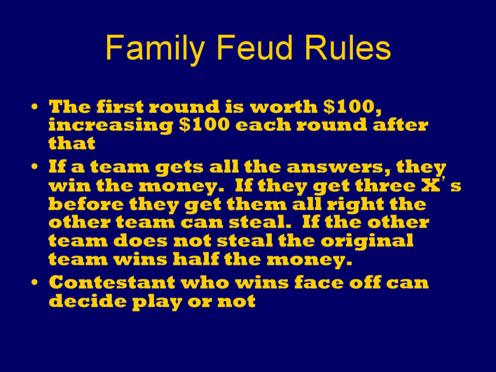 Free Family Feud Powerpoint Template Ppt 401kb 17 Pages Page 2