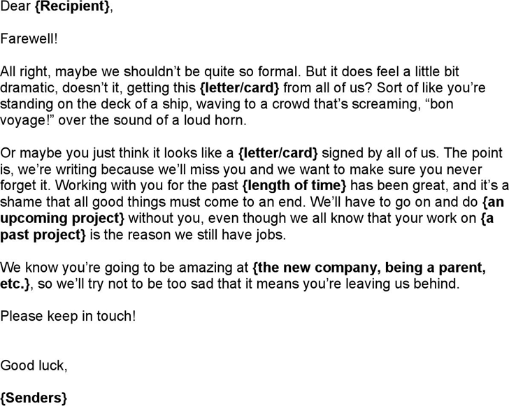 Leaving Letter To Colleagues from www.speedytemplate.com