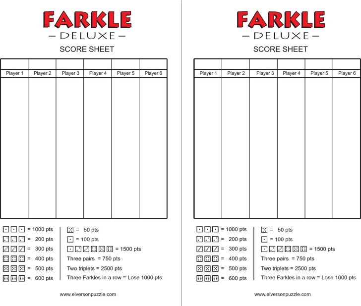 free farkle score cards pdf 28kb 1 pages