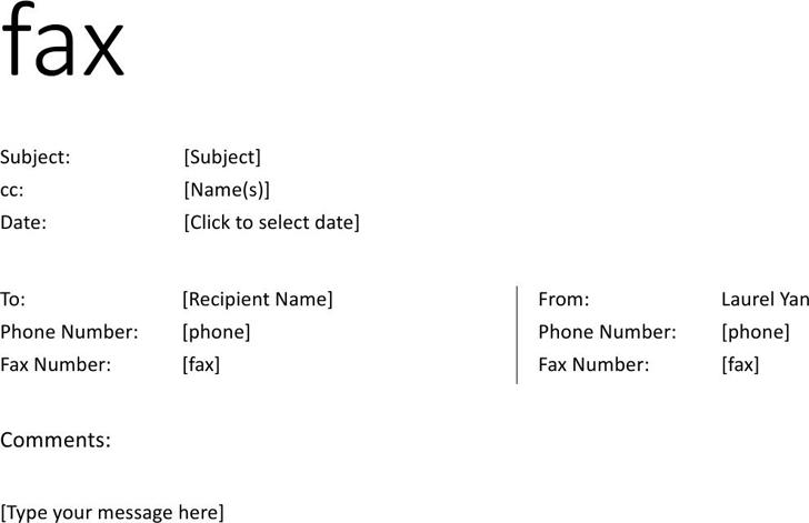 Fax Cover Sheet Informal