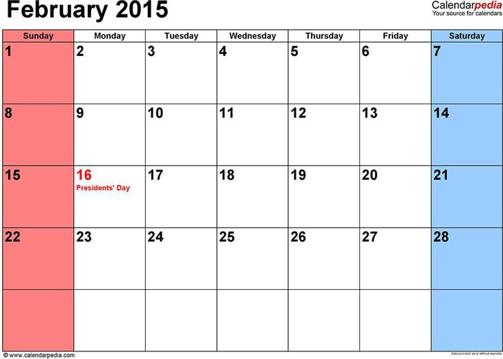 February 2015 calendar template free download speedy template february 2015 calendar 1 saigontimesfo