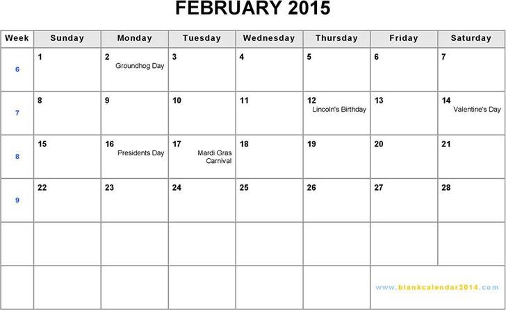 February 2015 calendar template free download speedy template february 2015 calendar 2 saigontimesfo