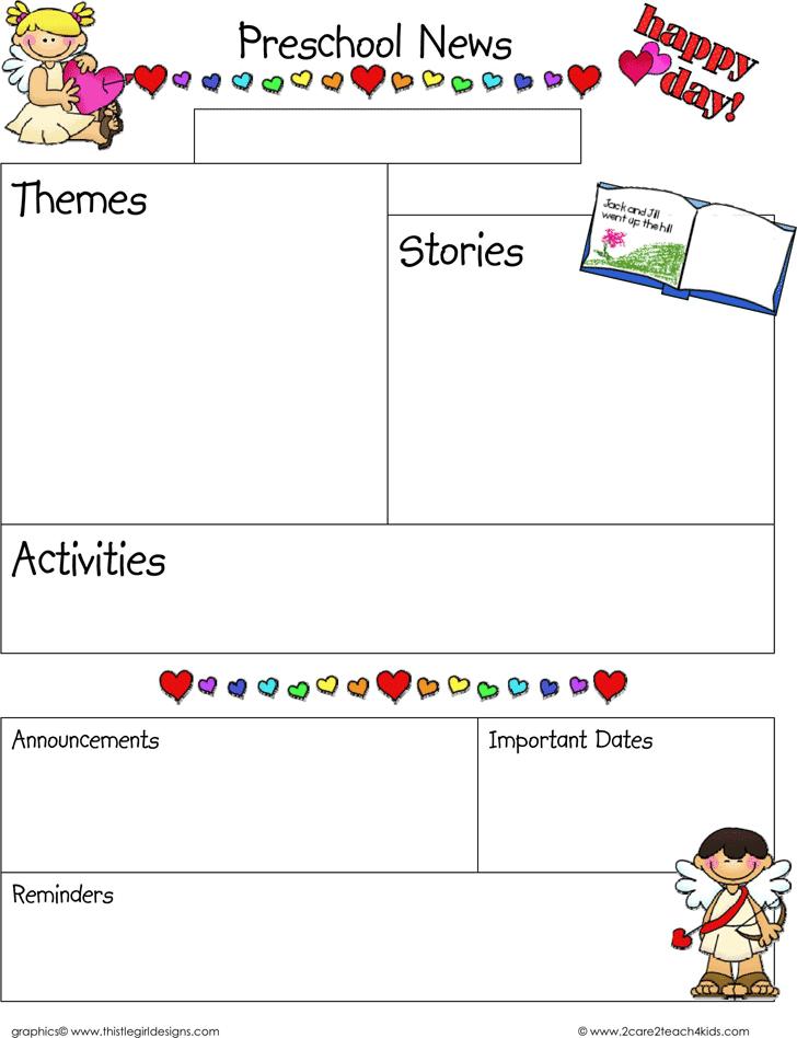 Preschool Newsletter Template - Template Free Download   Speedy Template