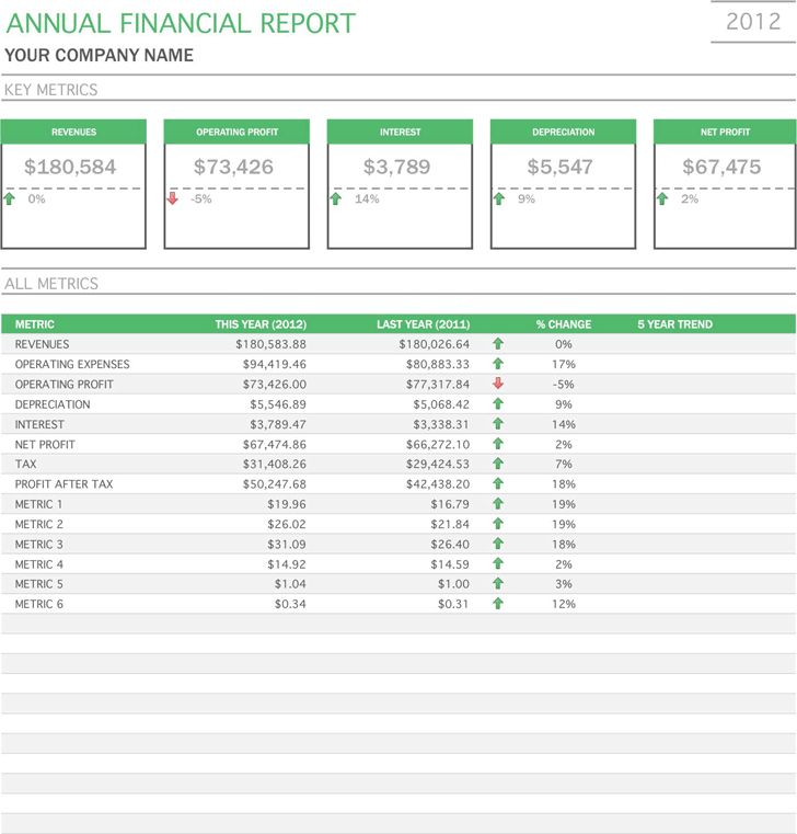 Financial Report Template 2  Financial Report Template Free