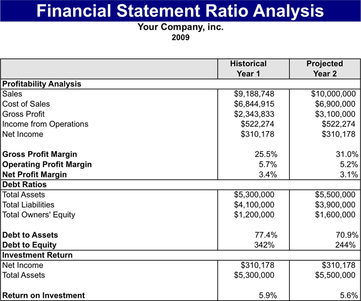 Financial Statement Ratios