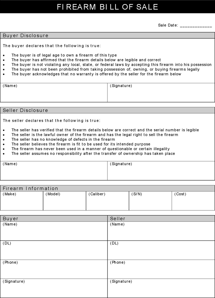 bill of sale to print