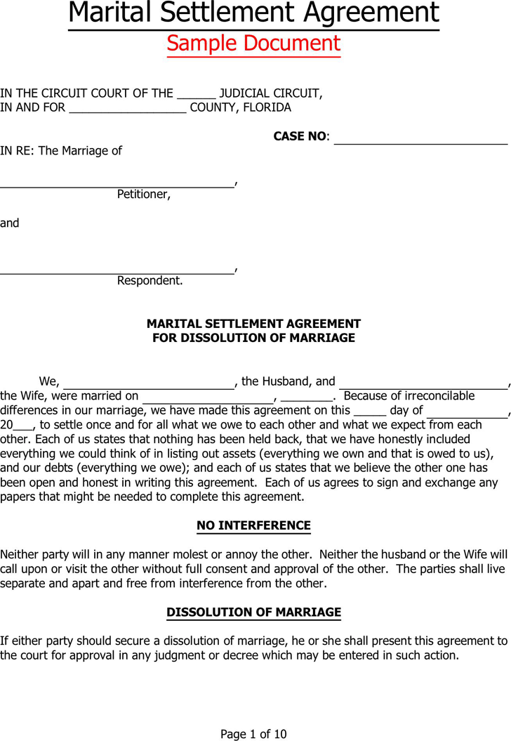 deed of separation form