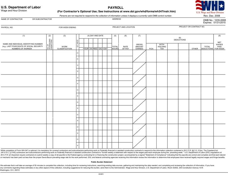 free general certified payroll form pdf 139kb 2 page s. Black Bedroom Furniture Sets. Home Design Ideas