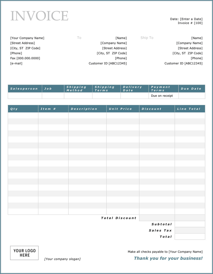 General Invoice Template 2