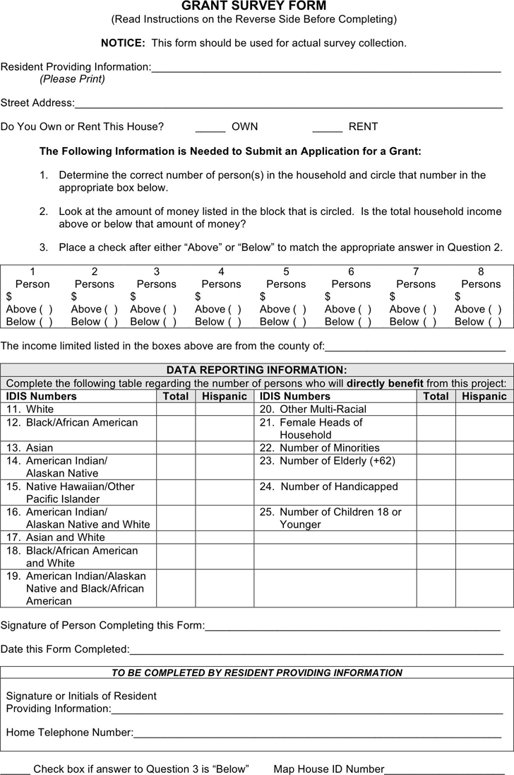 General Survey Form 2