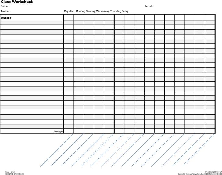 gradebook template template free download speedy template