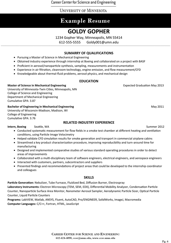 Free Graduate Resume And Curriculum Vitae Guide Pdf