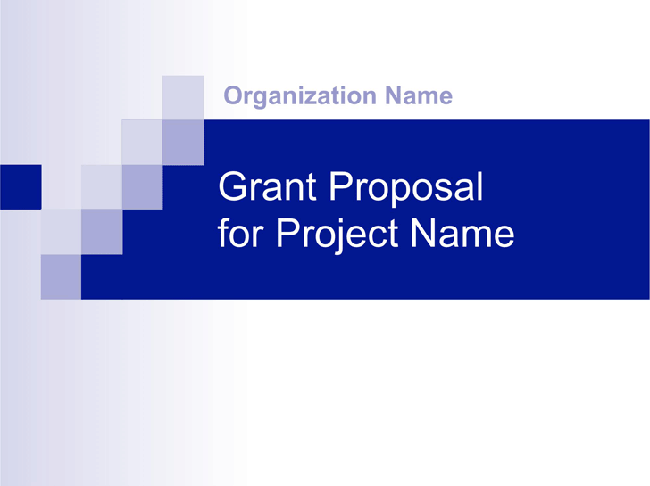 Grant Proposal Presentation Template