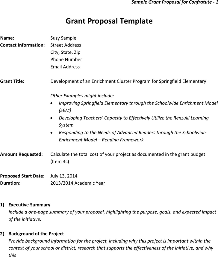 Free Grant Proposal Template Pdf 176kb 4 Pages