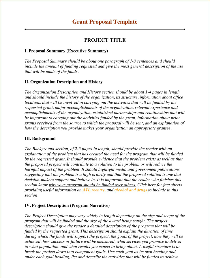 Free Grant Proposal Template Pdf 91kb 2 Page S