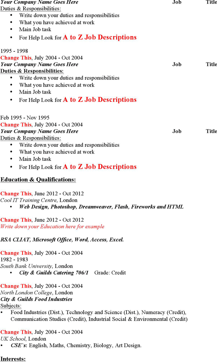 Hairdresser resume examples