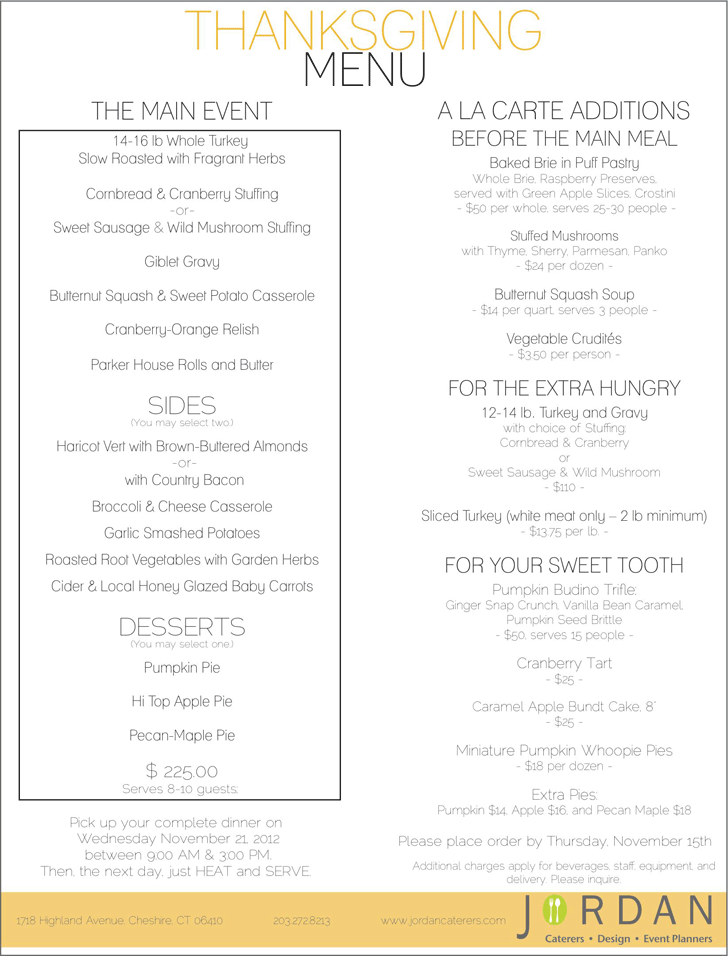 Holiday Dinner Menu Template 1