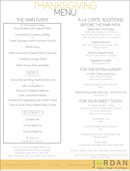 Holiday Dinner Menu Template