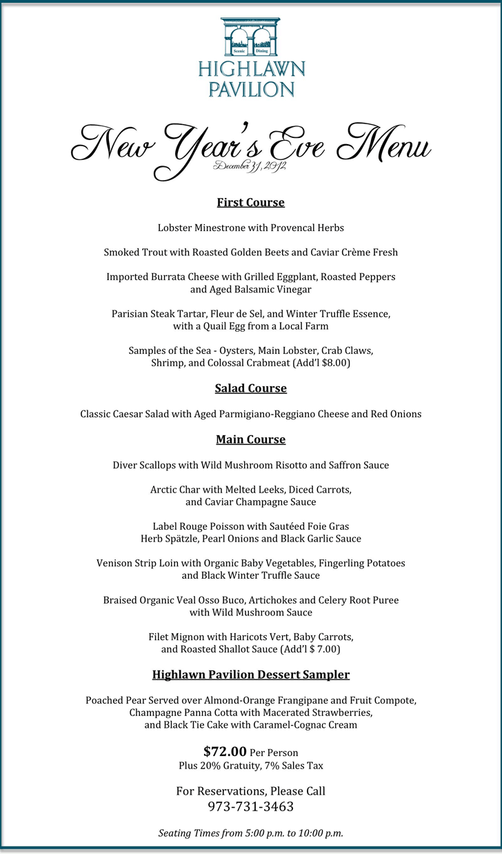 Holiday Dinner Menu Template 3