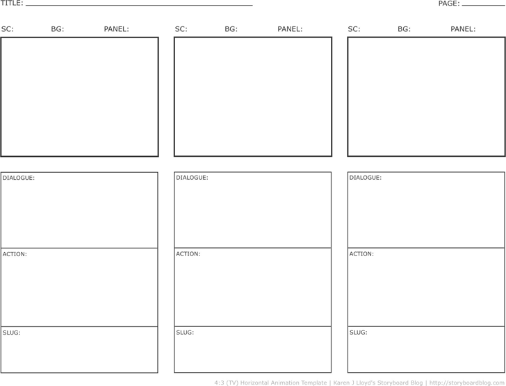 Storyboard Template Template Free Download Speedy Template