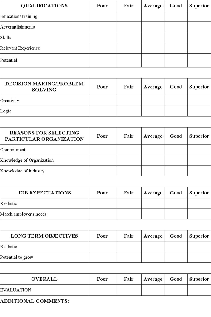 Free Interview Evaluation Form - doc | 86KB | 2 Page(s) | Page 2