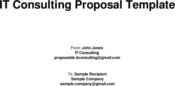 Consulting Proposal Template - Template Free Download | Speedy Template