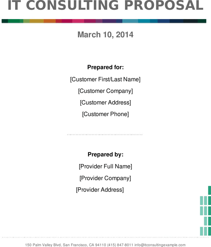 Free It Consulting Proposal Template Pdf 179kb 9 Pages Page 2