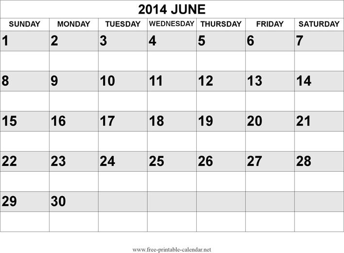 June 2014 Calendar Template Free Download Speedy Template