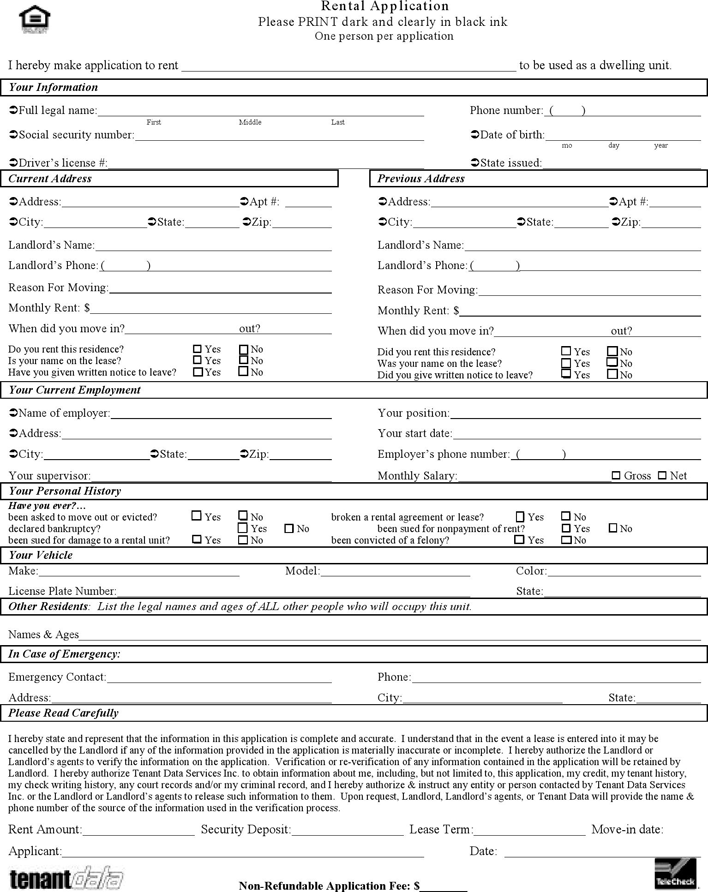 Kansas Rental Application