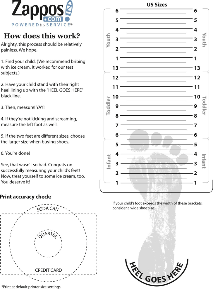 photograph about Shoe Size Template Printable identified as Shoe Measurement Chart - Template No cost Obtain Instant Template