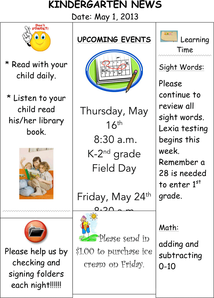 Kindergarten Newsletter Template Template Free Download Speedy - Daily newsletter template