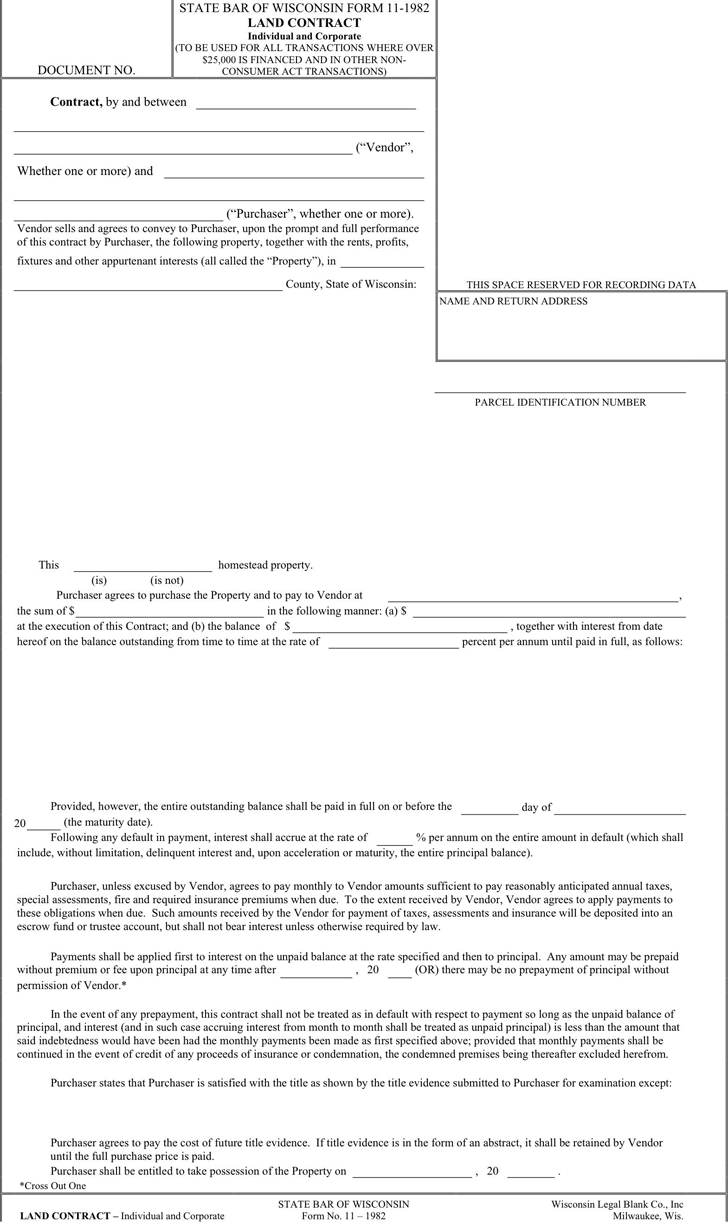 Land Contract Template 3
